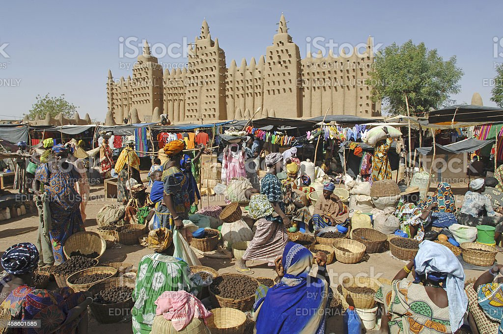 Djenne, Mali, West Africa - March, 13th 2006: The Monday market in...