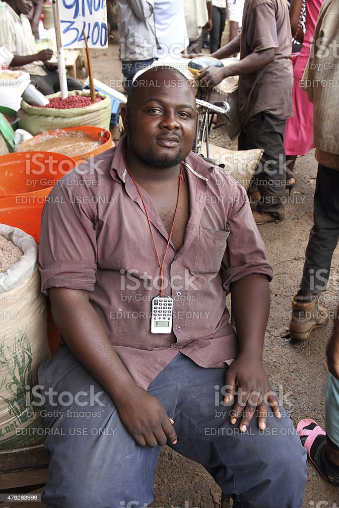 African Market Vendor Portrait stock photo