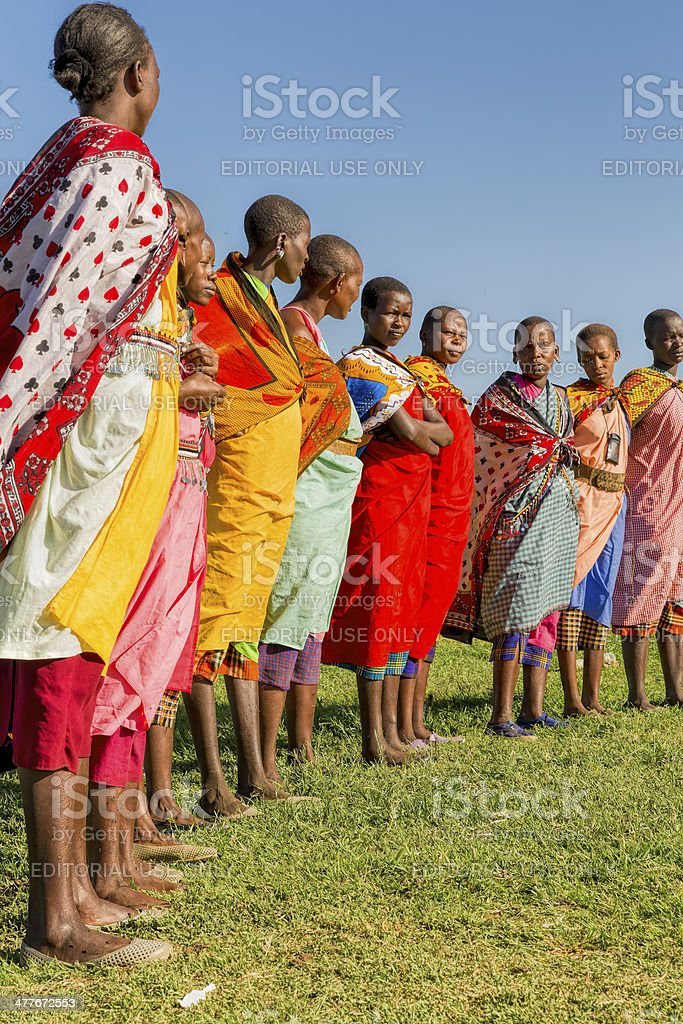 African masai people are posing stock photo