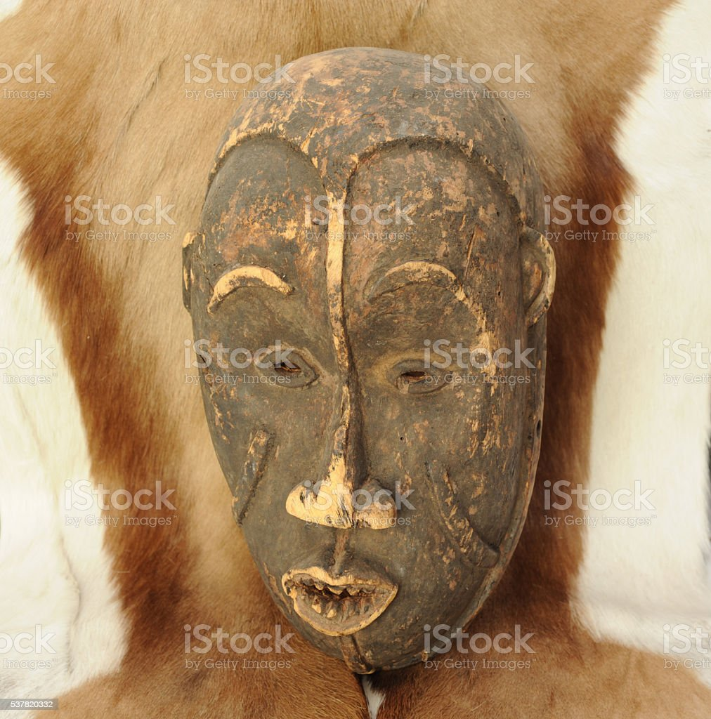 African Mask. stock photo