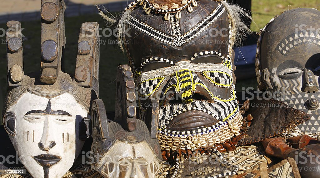 African masks royalty-free stock photo