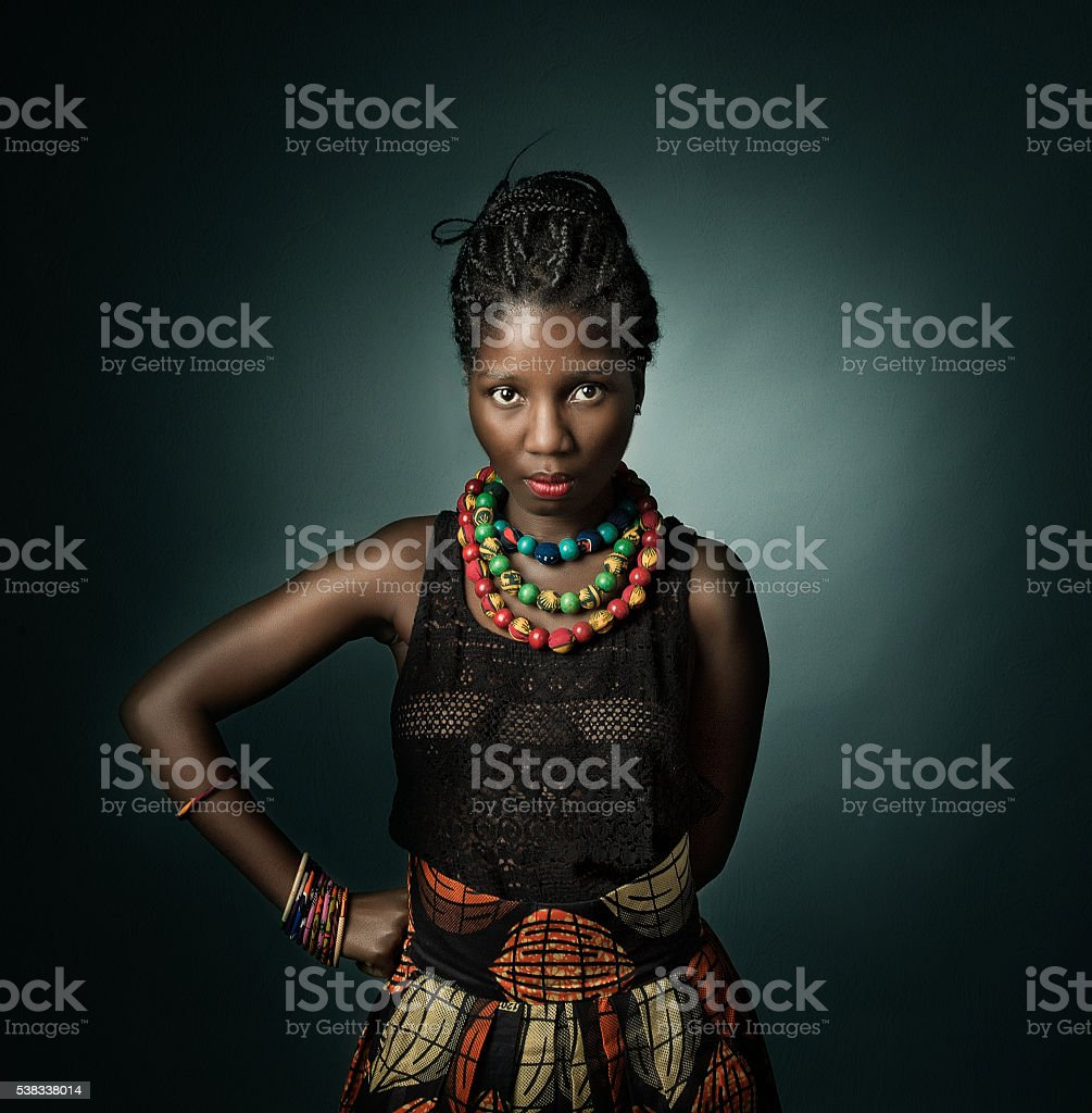 african model looking stock photo