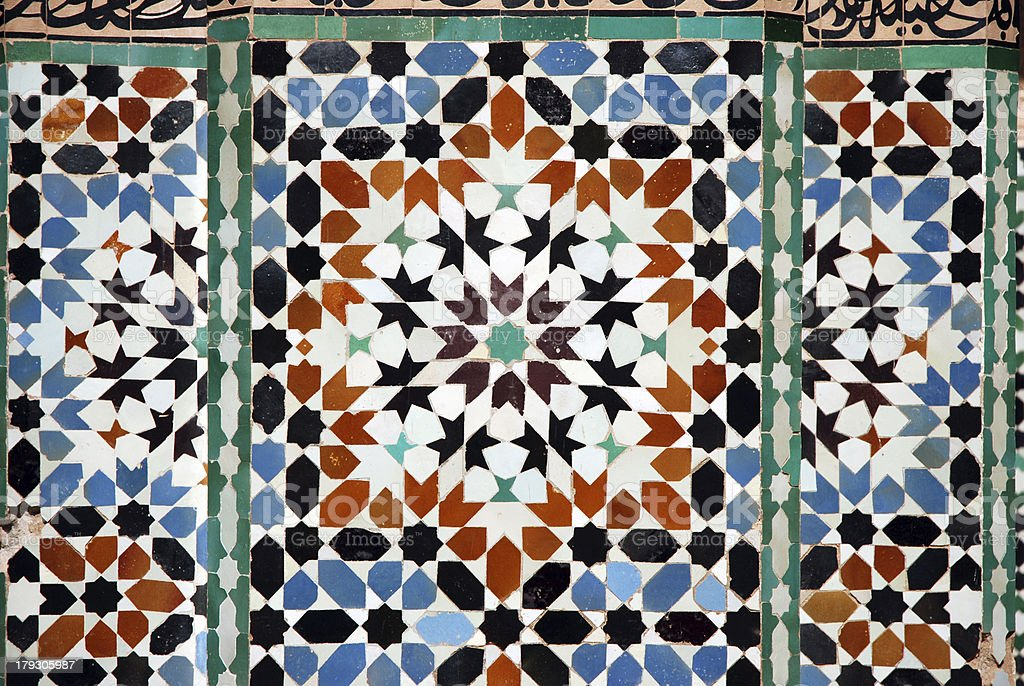 African Mosaic in Marrakesh royalty-free stock photo