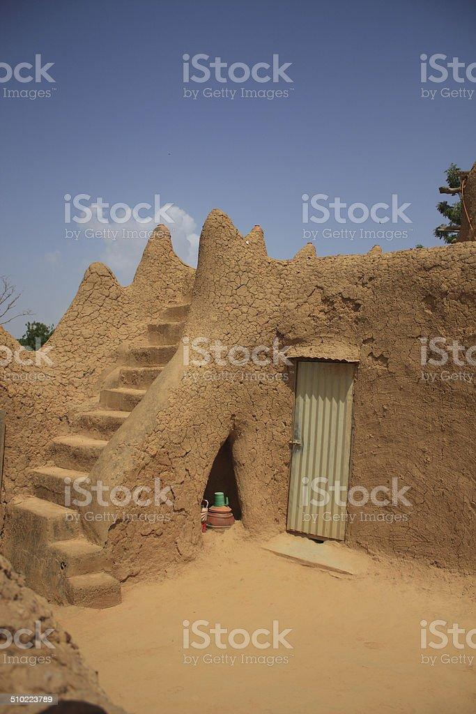 African mosque interior stock photo