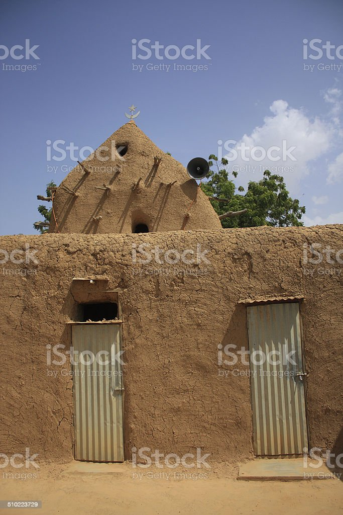 African mosque stock photo