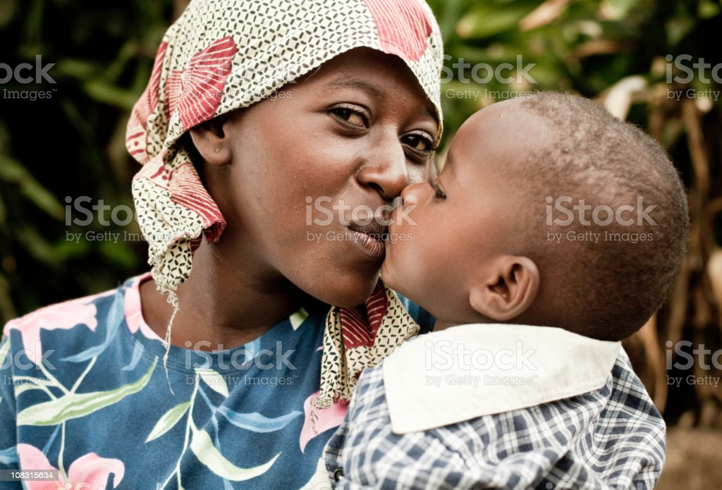 African Mother & Child Portrait royalty-free stock photo