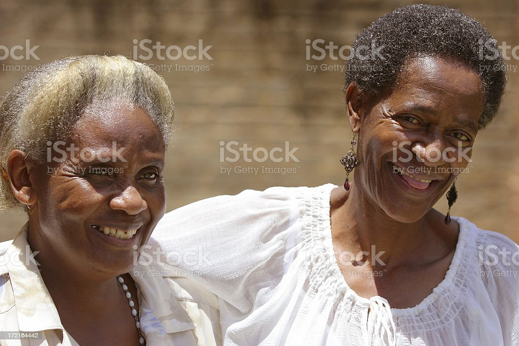 African Mother and Daughter joking two royalty-free stock photo