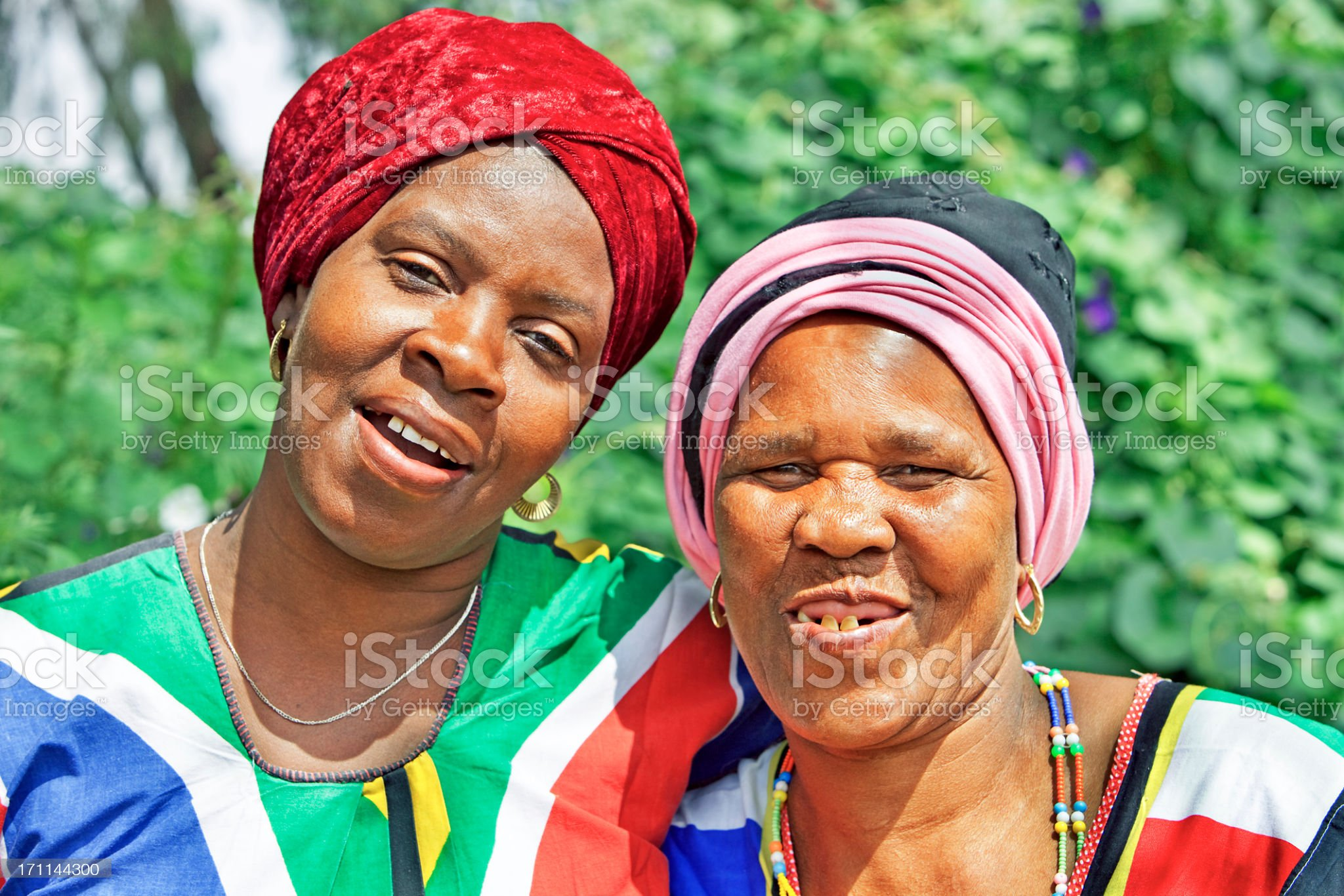 African Mother and Daughter royalty-free stock photo