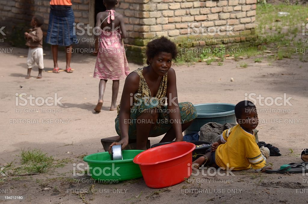African mother stock photo