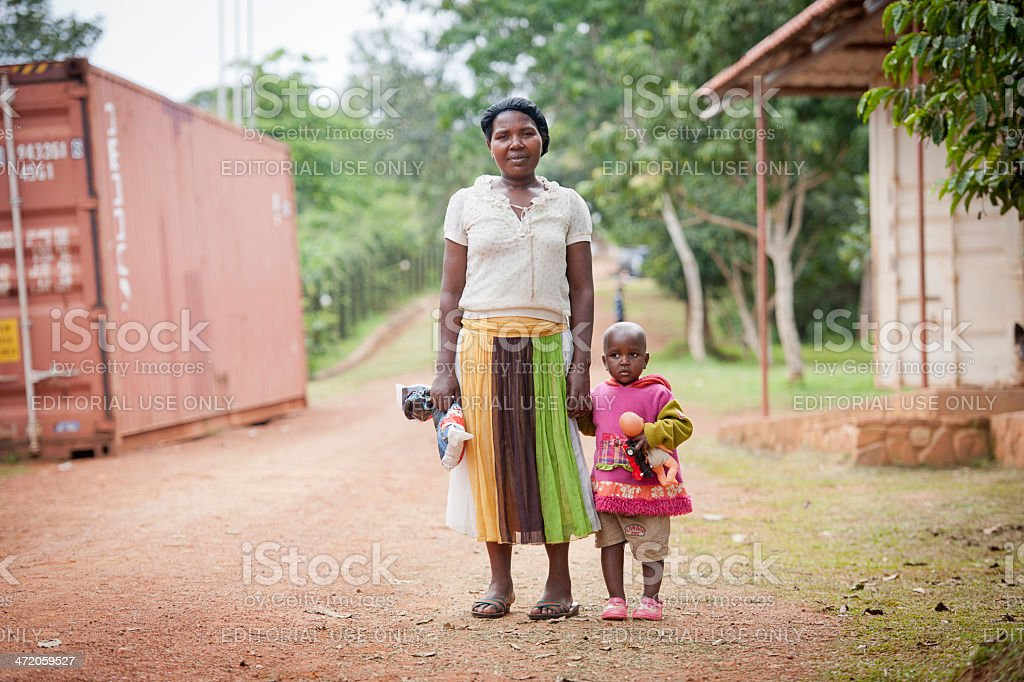 African mother with child stock photo