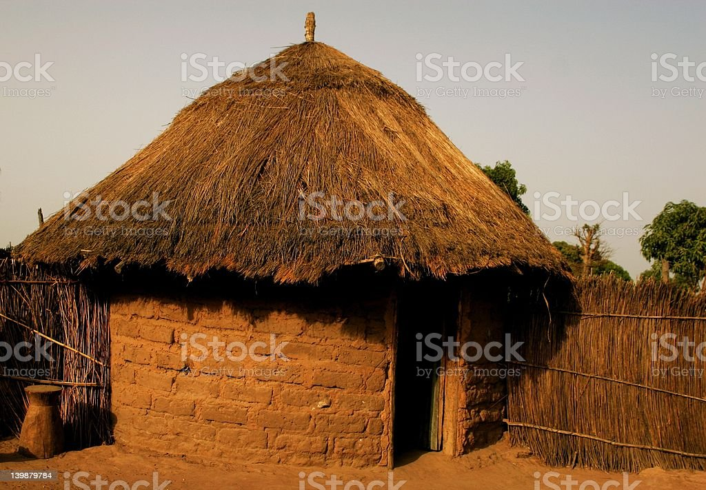 African mud hut royalty-free stock photo