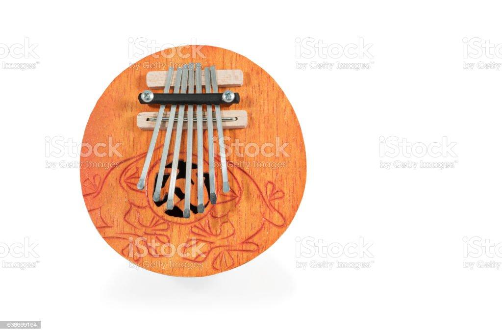 African musical instrument kalimba stock photo