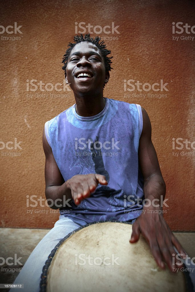african musician stock photo