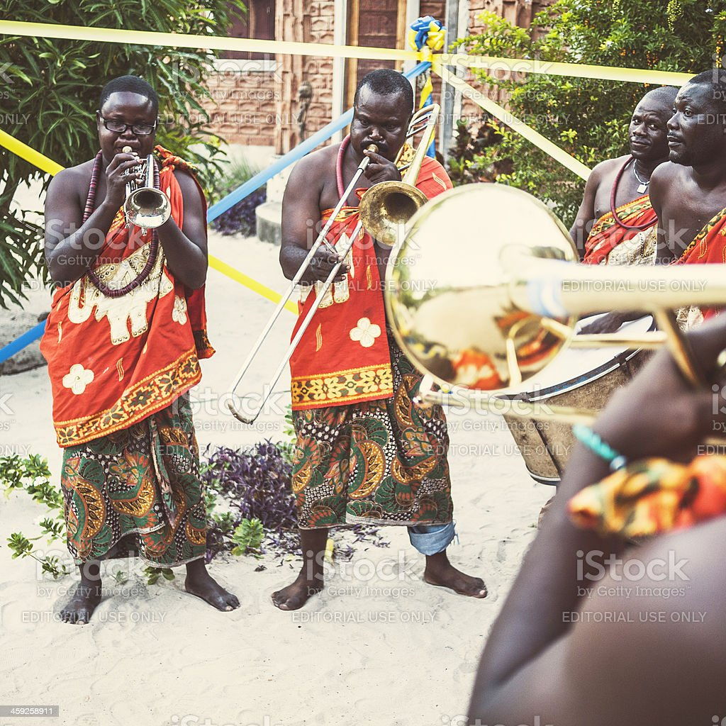 African musicians. royalty-free stock photo