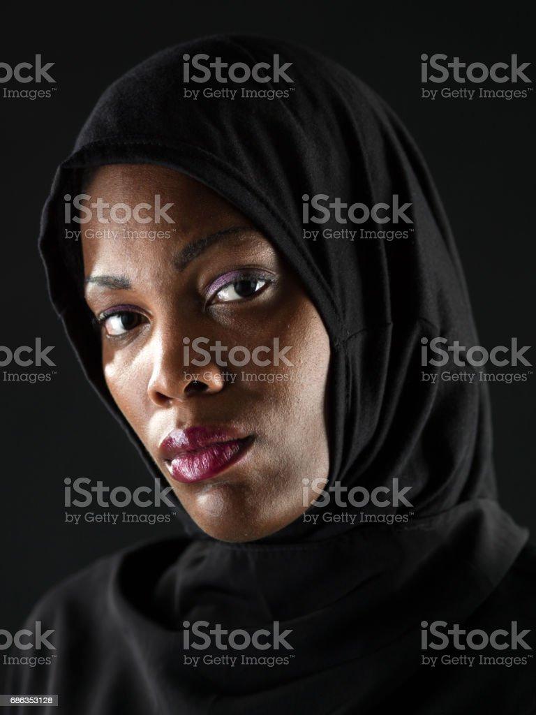 African Muslim woman stock photo