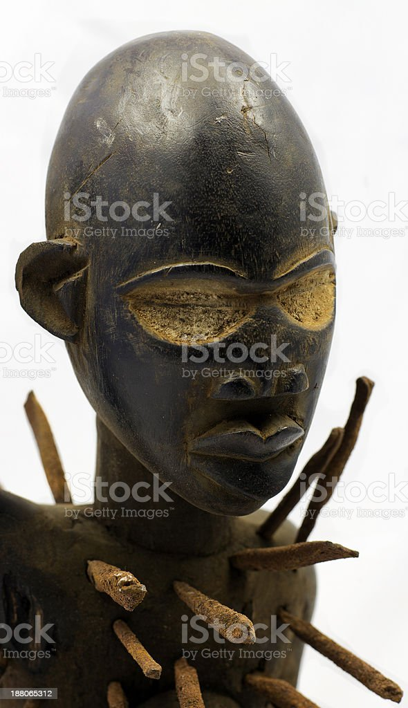F?tiche ? clous africain - Statuette royalty-free stock photo