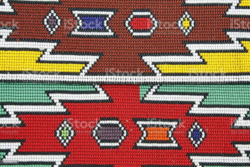 African Ndebele beading stock photo