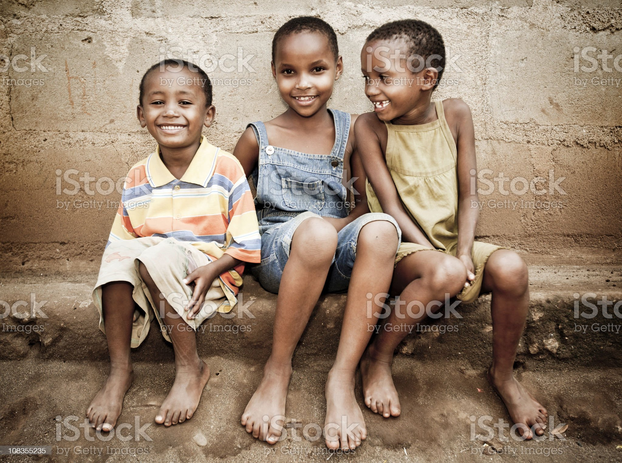 African Orphan Girls royalty-free stock photo