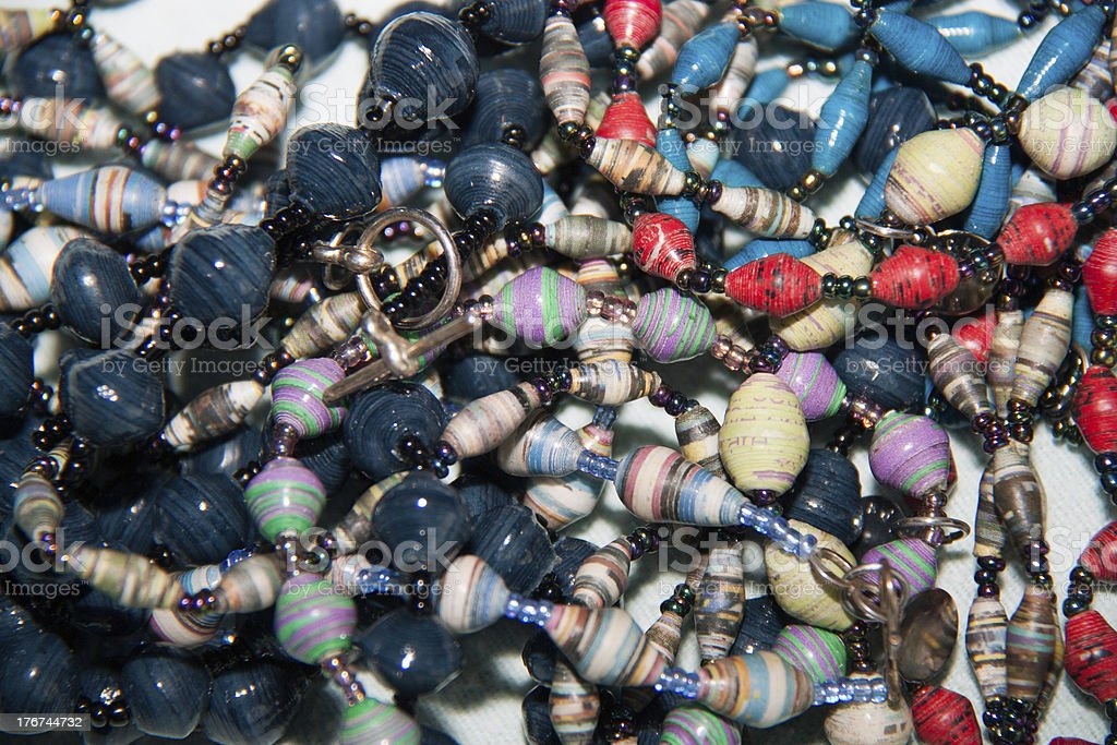 African Paper Bead Jewelry royalty-free stock photo