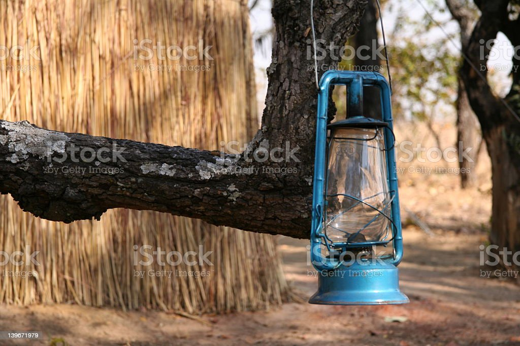 african paraffin lamp stock photo