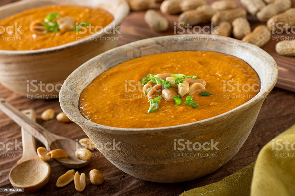 African Peanut Soup stock photo