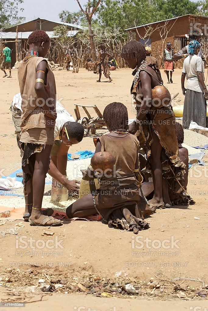 African people at the market royalty-free stock photo
