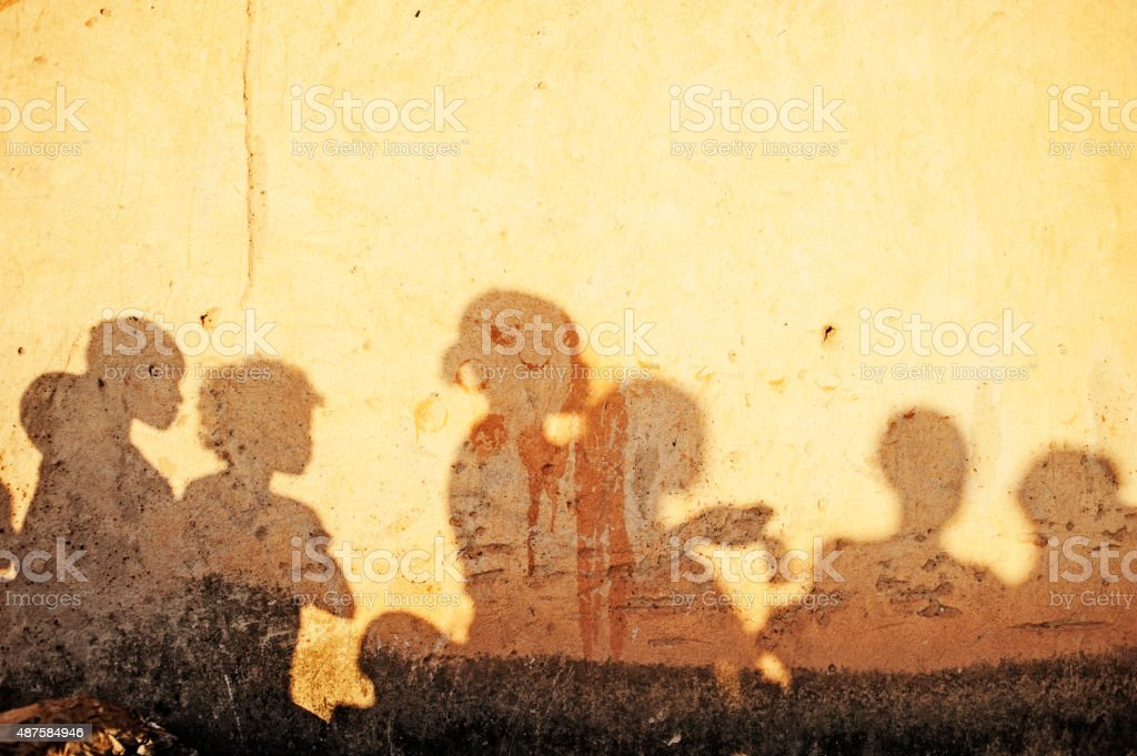 African People's Shadows (Women) - Burkina Faso - Africa stock photo