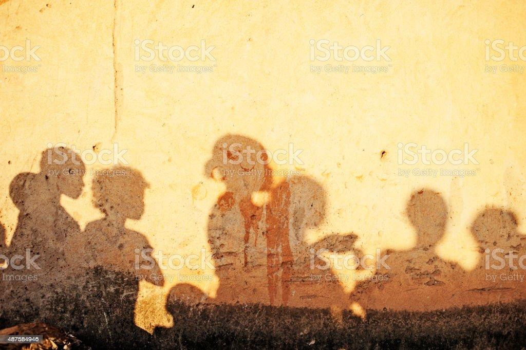 African People's Shadows (Women) - Burkina Faso - Africa stock photo