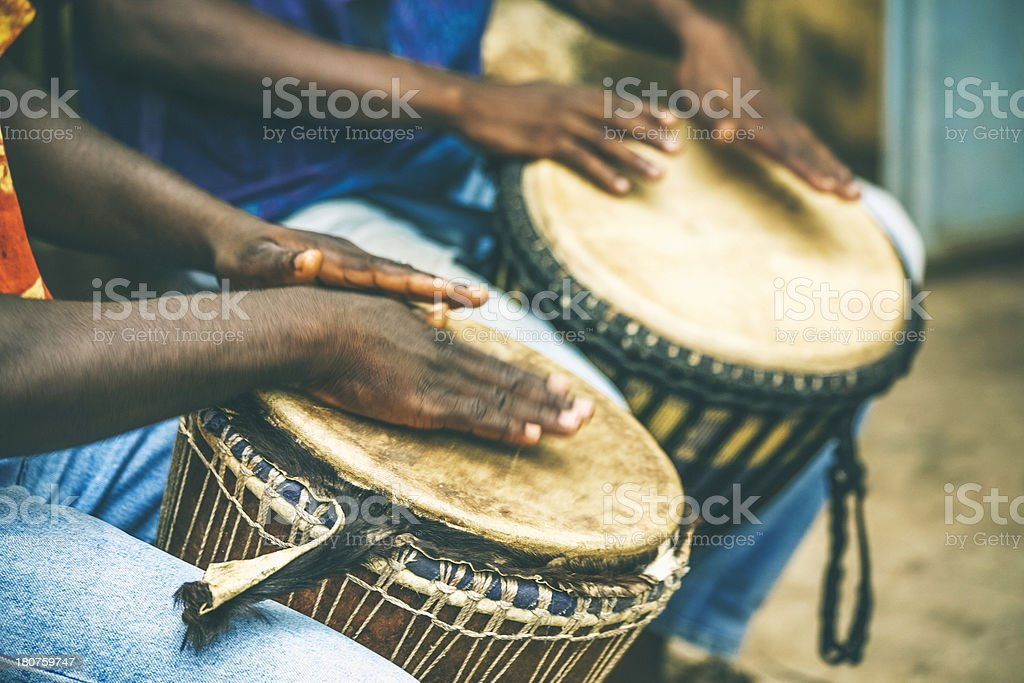 African percussion. stock photo
