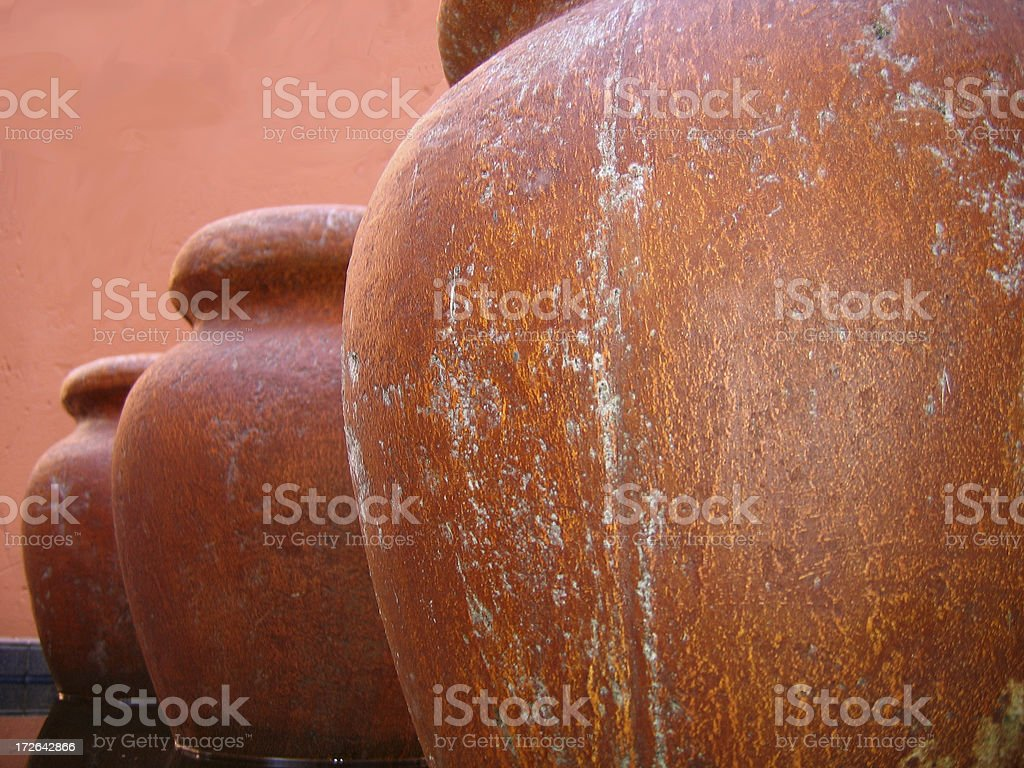 African pots royalty-free stock photo