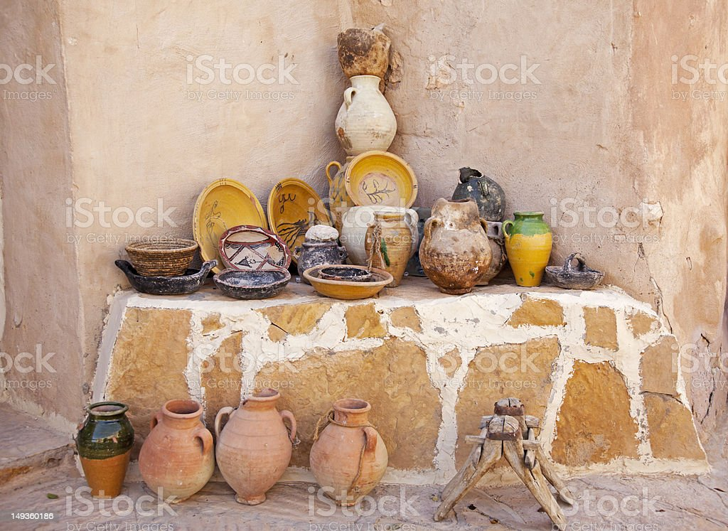 African pottery. royalty-free stock photo