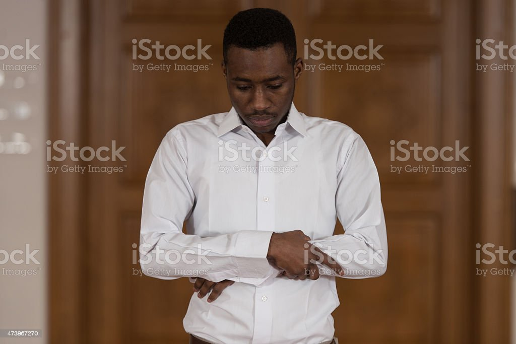 African Prayer At Mosque stock photo