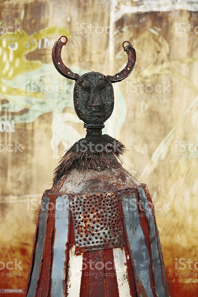 african protection totem royalty-free stock photo