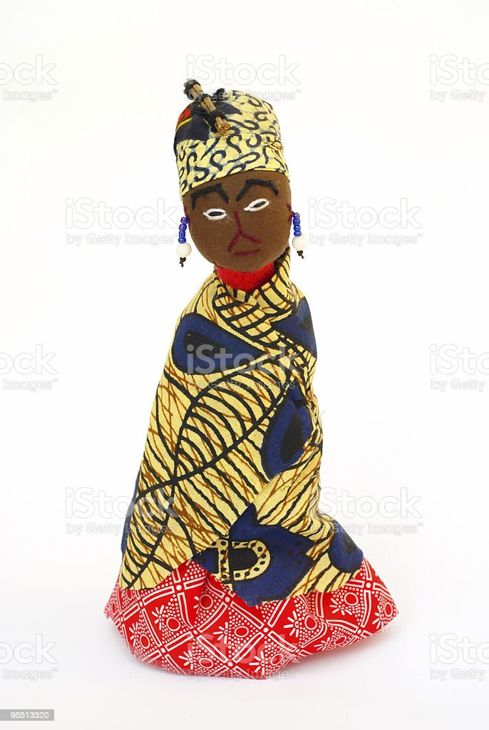 African rag doll royalty-free stock photo