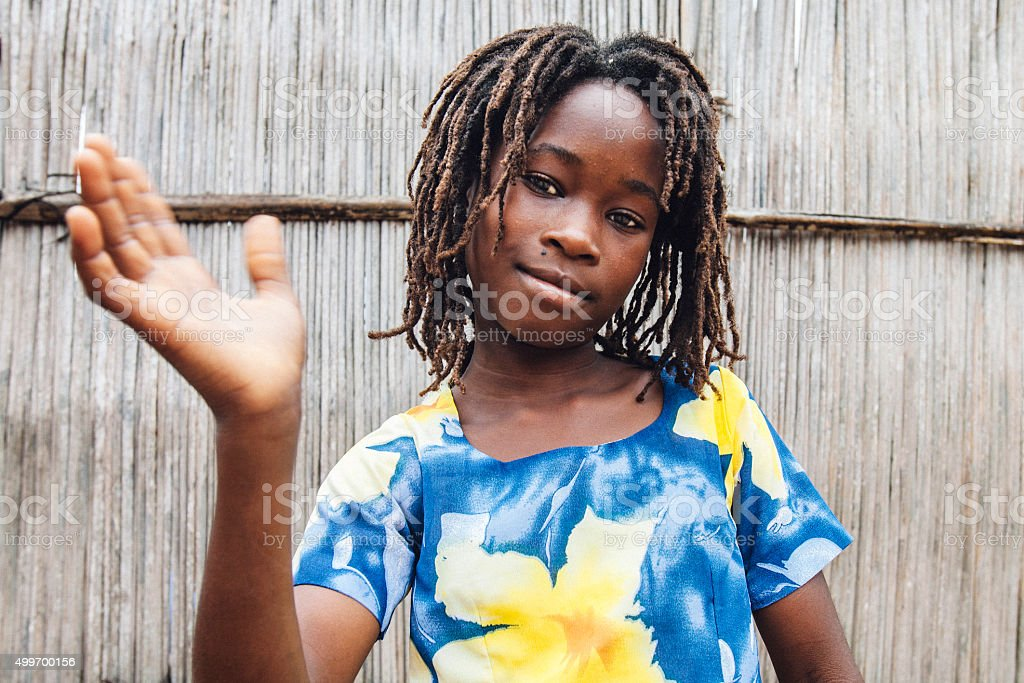 African rasta girl. stock photo