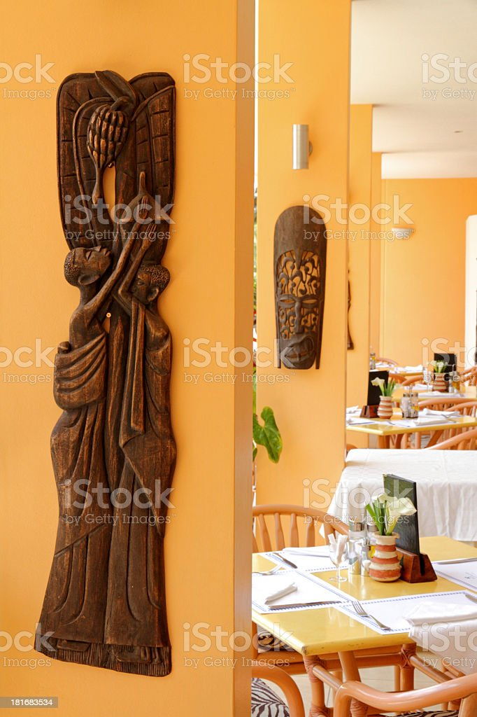 African Restaurant Dining Area royalty-free stock photo