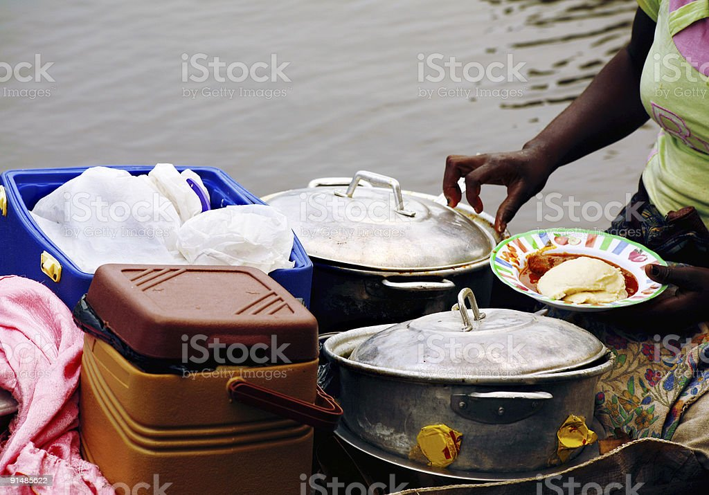 african restaurant on the boat royalty-free stock photo