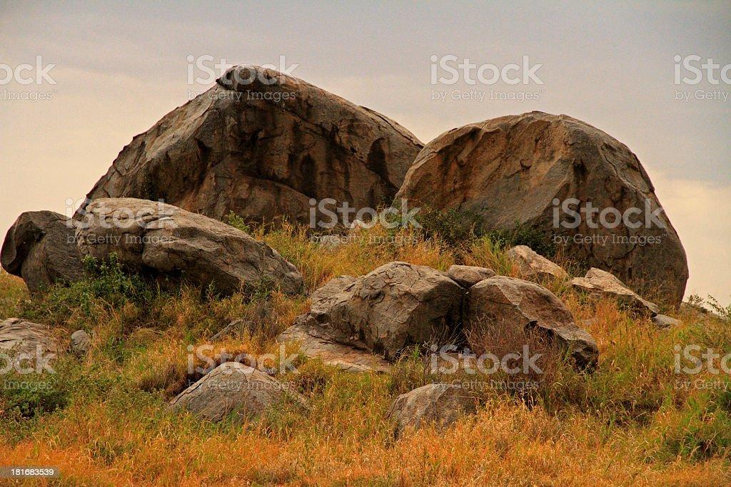 African Rock Kopje royalty-free stock photo