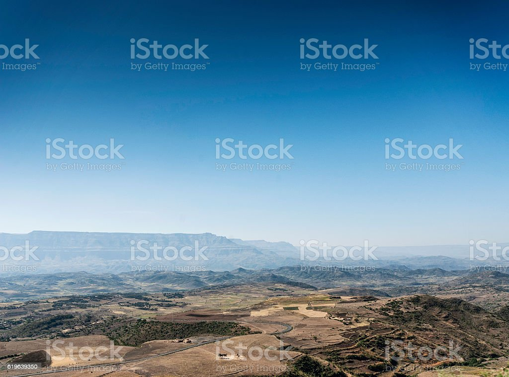 african rural northern ethiopia mountain and countryside lansdcape stock photo