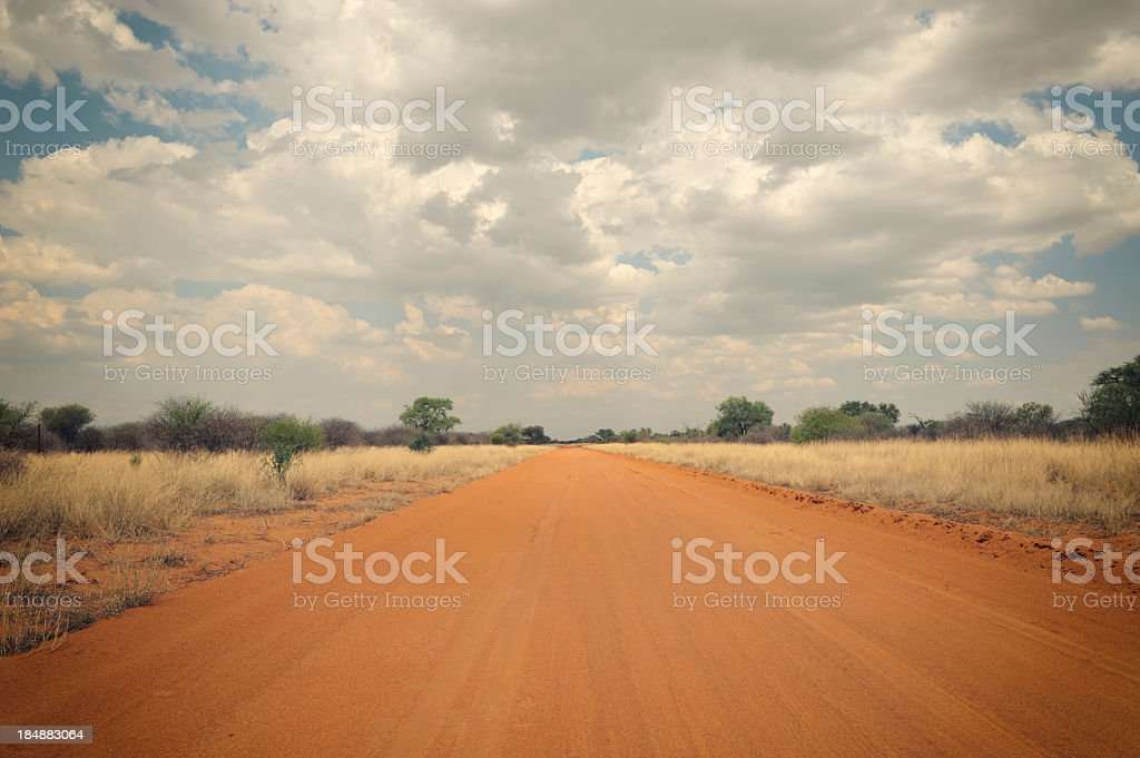 African rural road royalty-free stock photo
