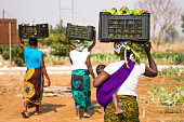 African rural women working