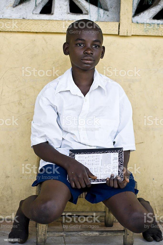 African School Boy stock photo