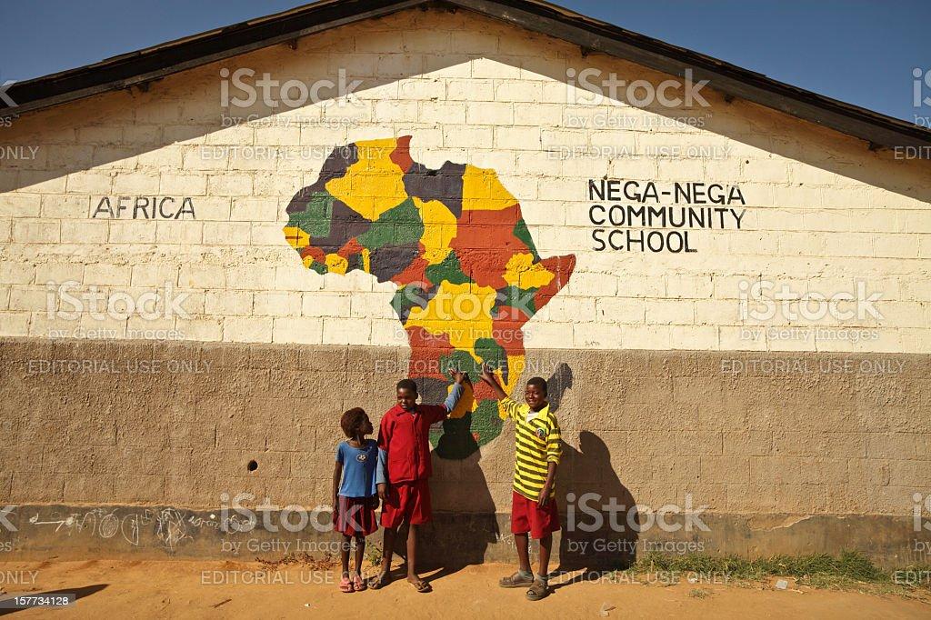African School Kids royalty-free stock photo