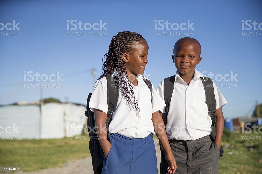 African School kids royalty-free stock photo