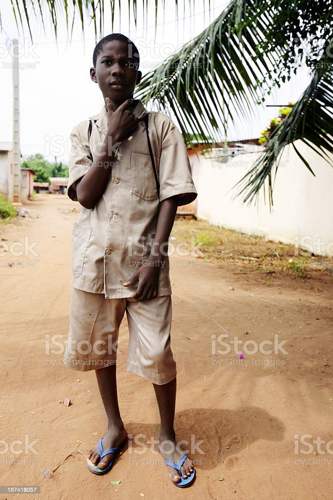 african schoolboy royalty-free stock photo