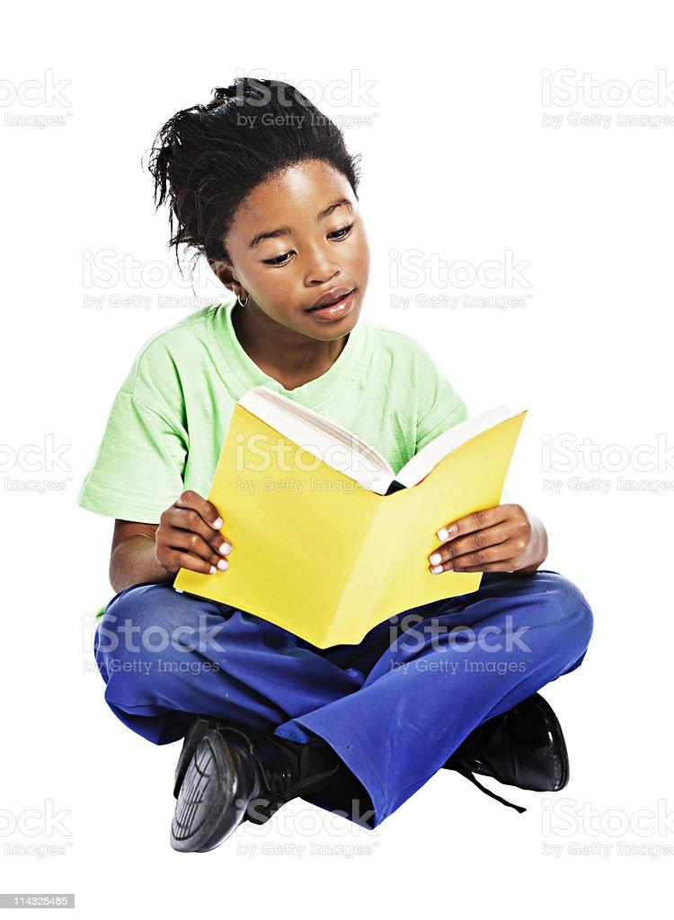 African schoolgirl royalty-free stock photo