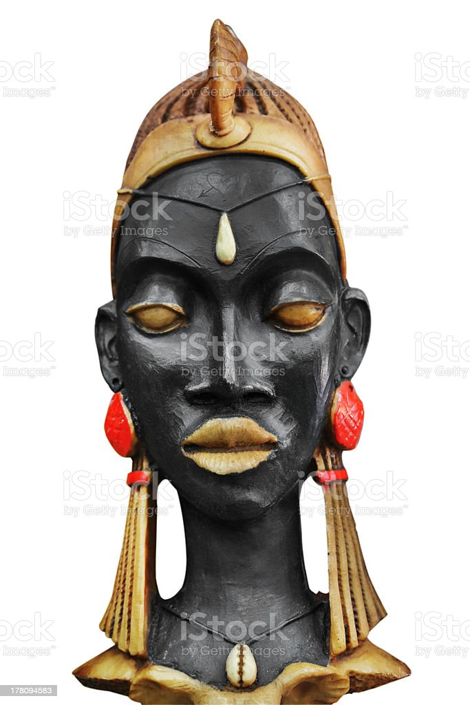 African sculpture royalty-free stock photo