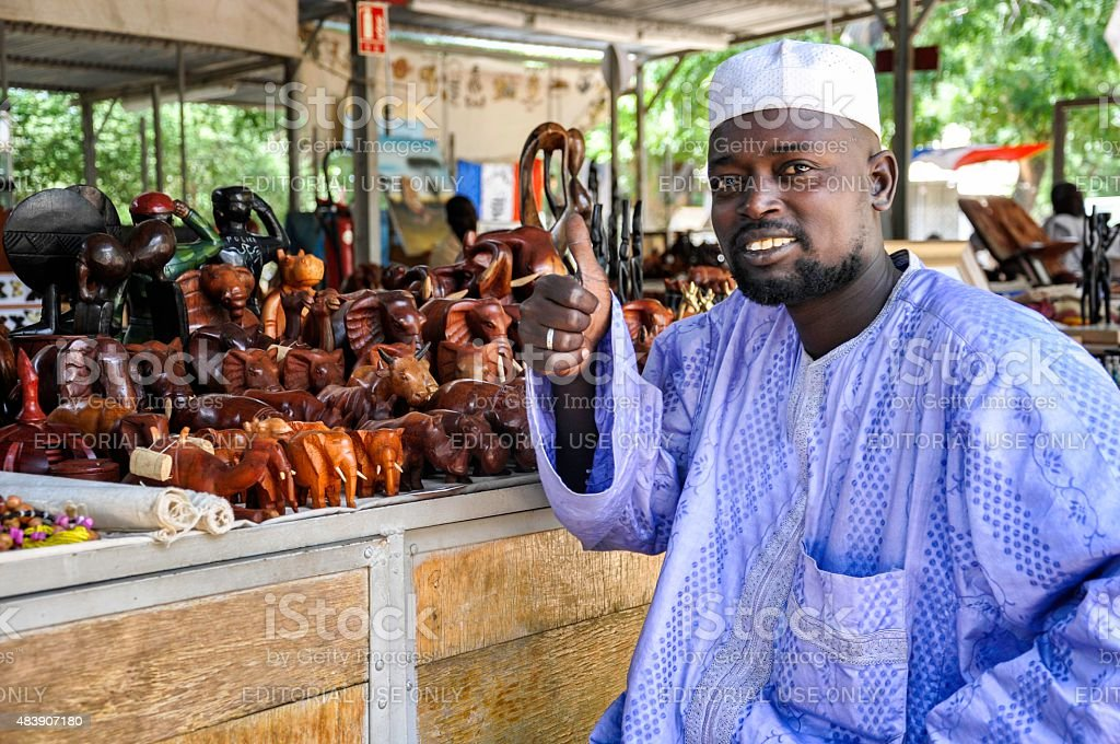 African seller stock photo