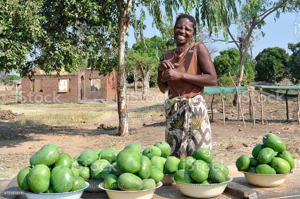 African selling Mangos stock photo