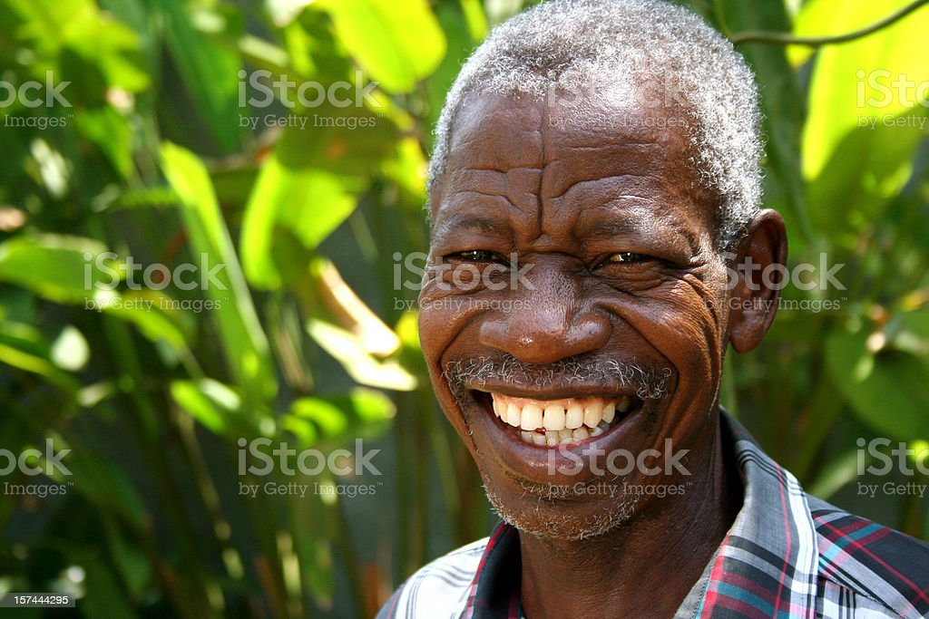 African Senior stock photo